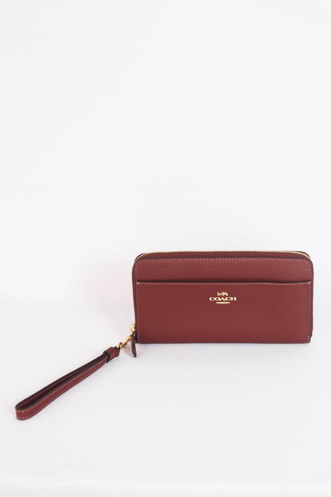 Coach Accordion Zip Wallet With Strap F76517 IMWIN In Wine