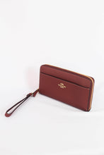 Load image into Gallery viewer, Coach Accordion Zip Wallet With Strap F76517 IMWIN In Wine