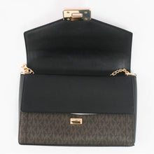 Load image into Gallery viewer, Michael Kors Kinsley Medium Shoulder Flap 35H9GYKF2B In Brown Black