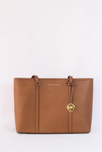 Load image into Gallery viewer, Michael Kors Sady Large Multifunction Top Zip Tote 35T7GD4T7L In Luggage