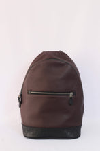 Load image into Gallery viewer, Coach West Slim Backpack With Signature Leather F79961 QBFCG In Oxblood Multi