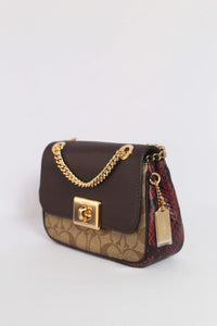 Coach Mini Cassidy Crossbody F88880 IMLLW In Oxblood Multi
