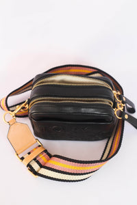 Tory Burch Mini Perry Double Zip 53074 Crossbody Bag in Black