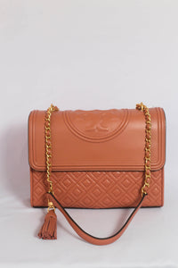 Tory Burch Fleming Convertible 43833 Shoulder Bag In Tramonto