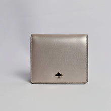 Load image into Gallery viewer, Kate Spade Nadine Small Bifold Wallet WLRU5595 In Metallic Blush