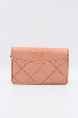 Tory Burch Savannah 61504 Slim Medium Wallet In Tramonto
