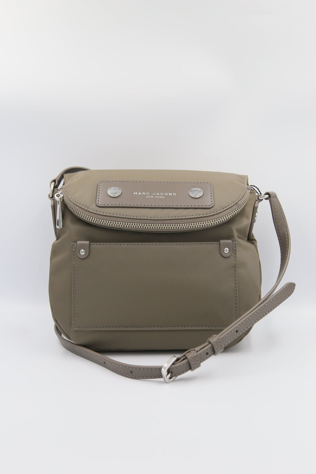Marc Jacobs Mini Natasha M0012909 Nylon Crossbody Bag In Quartz Grey