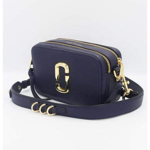 Marc Jacobs The Softshot 21 Crossbody Bag In Navy