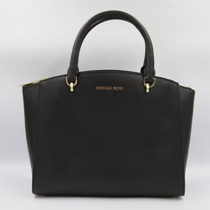 Michael Kors Large Ellis 38T9CE0S3L Convertible Satchel Bag In Black