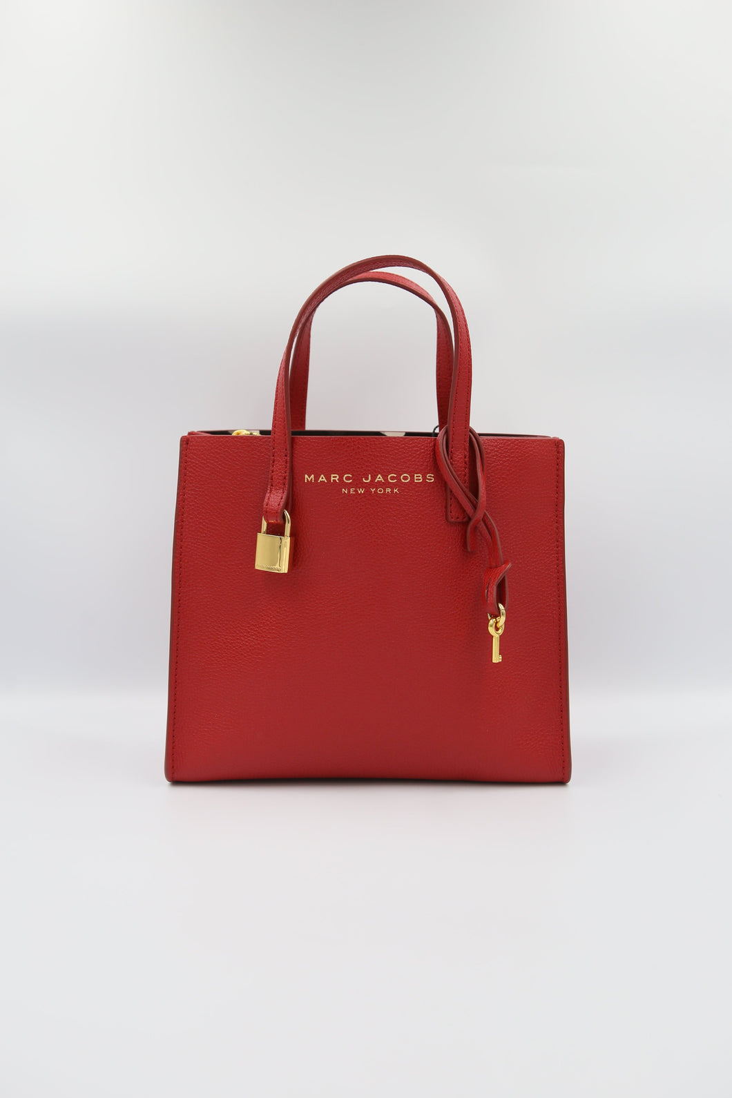 Marc Jacobs Mini Grind M0015685 Tote Bag In Fire Red