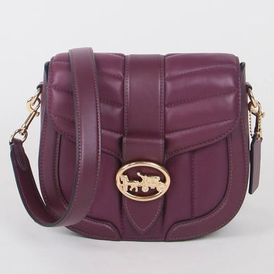 Coach Georgie Saddle C2803 Crossbody Bag In Boysenberry