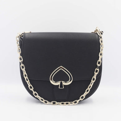 Kate Spade Robyn Medium Chain Saddle Bag WKRU6547 In Black (001)