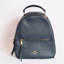 Load image into Gallery viewer, Coach Crossgrain Leather Jordyn Backpack F76624 In Midnight