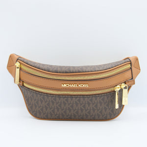 Michael Kors Small Kenly 35T0GY9C1B Pack Crossbody Belt Bag In Brown Acorn