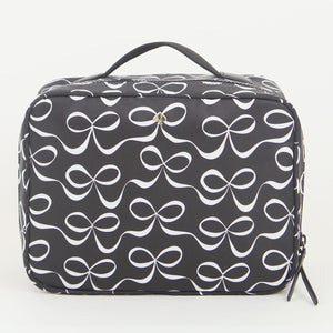 Kate Spade Jae Elegant Bow WLR0205 974 Travel Cosmetic Bag In Black Multi
