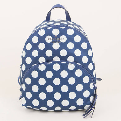 Kate Spade Medium Karissa Nylon Seaside Dot WKR00320 460 Backpack In Blue Multi