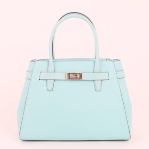 Kate Spade Medium Lucia WKR00332 468 Satchel Bag In Aqua Bloom