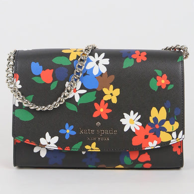 Kate Spade Carson Sailing Floral WKR00378 098 Convertible Crossbody Bag In Black Multi