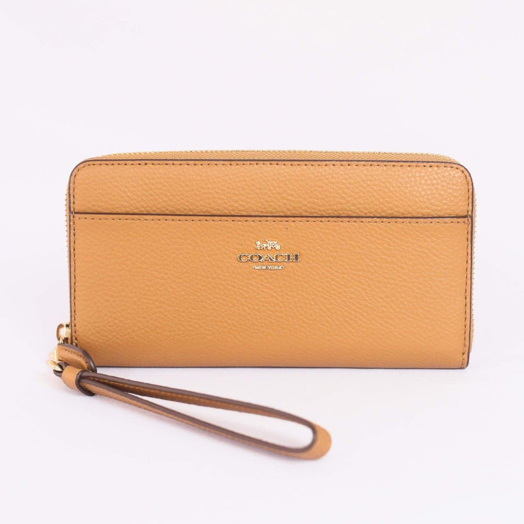 Coach Accordion Zip Wallet F76517 In Light Saddle