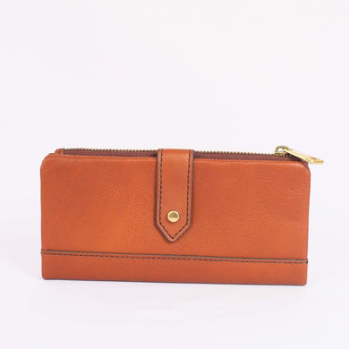 Fossil Lainie Clutch In Medium Brown