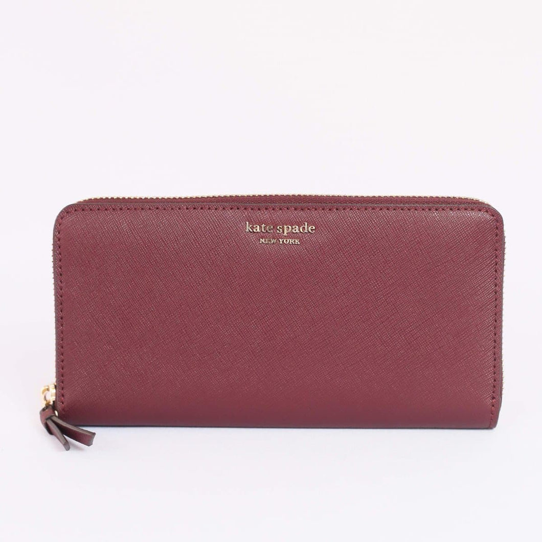 Kate Spade Cameron Large Continental Wallet WLRU5448 In Cherrywood