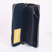 Load image into Gallery viewer, Michael Kors Jet Set Travel Large Travel Continental 35H9STVE7J In Navy Multi