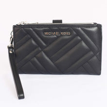 Load image into Gallery viewer, Michael Kors Peyton Large Double Zip Wristlet 35H9SP6W3L In Black