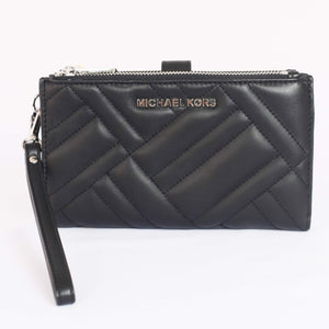 Michael Kors Peyton Large Double Zip Wristlet 35H9SP6W3L In Black