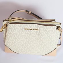 Load image into Gallery viewer, Michael Kors Nicole Large Triple Compartment Crossbody Bag 35H9GNIC9B In Ballet