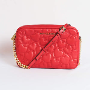 Michael Kors Giftables Large EW Crossbody Bag 35S9GGFC3T In Scarlet