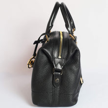 Load image into Gallery viewer, Michael Kors Ginger Small Duffle Satchel 35H9GYJS5L In Black Leather