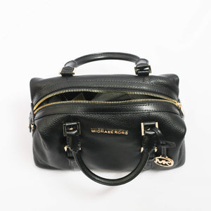 Michael Kors Ginger Small Duffle Satchel 35H9GYJS5L In Black Leather