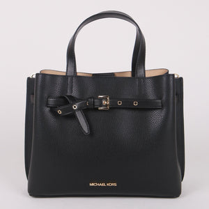 Michael Kors Large Emilia 35H0GU5S7T Satchel Bag In Black