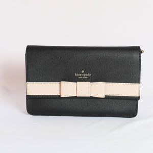 Kate Spade Veronique Kirk Park Saffiano WKRU4008 In Black/Warm
