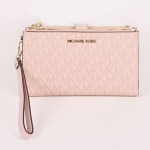 Michael Kors Jet Set Travel 35F8GTVW0B Large Double Zip Wristlet In Ballet