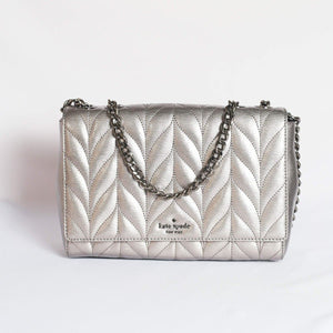 Kate Spade Emelyn Briar Lane Quilted Patent WKRU5970 In Gunmetal