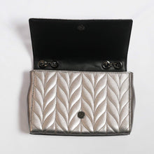 Load image into Gallery viewer, Kate Spade Emelyn Briar Lane Quilted Patent WKRU5970 In Gunmetal