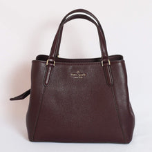 Load image into Gallery viewer, Kate Spade Jackson Medium Triple Compartment Satchel WKRU6040 In Chocolatecherry