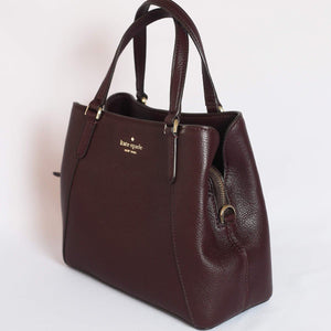 Kate Spade Jackson Medium Triple Compartment Satchel WKRU6040 In Chocolatecherry