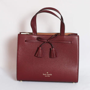 Kate Spade Hayes Small Satchel WKRU5775 In Cherrywood
