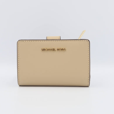 Michael Kors Medium Bifold Zip Coin 35T0GTVF8L Jet Set Travel Wallet In Bisque
