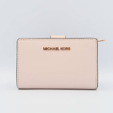 Michael Kors Medium Bifold Zip Coin 35T0GTVF8L Jet Set Travel Wallet In Powder Blush