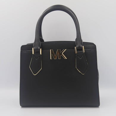 Michael Kors Mott 35T0GOXM6L Medium Messenger Crossbody Bag In Black