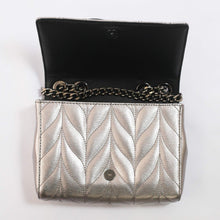 Load image into Gallery viewer, Kate Spade Briar Lane Quilted Patent Mini Emelyn  WKRU5974 In Gunmetal