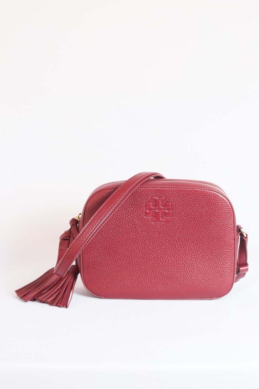 Tory Burch Thea Shoulder Bag In Imperial Garnet