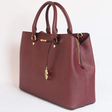 Load image into Gallery viewer, Michael Kors Savannah Large Satchel 35T9GS7S3L in Merlot