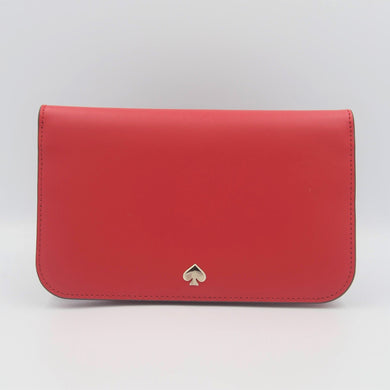 Kate Spade Nadine Medium Clutch Wallet WLRU5591 In Hot Chilli