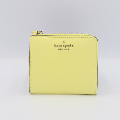 Kate Spade Jackson Small Windowless L-Zip Bifold Wallet WLRU5471 In Limelight