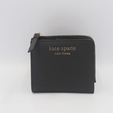 Kate Spade Cameron Small L-Zip Bifold Wallet WLRU6098 In Black