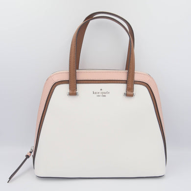 Kate Spade Patterson Drive Colorblock Medium Dome Satchel WKRU6572 In Optic White Multi